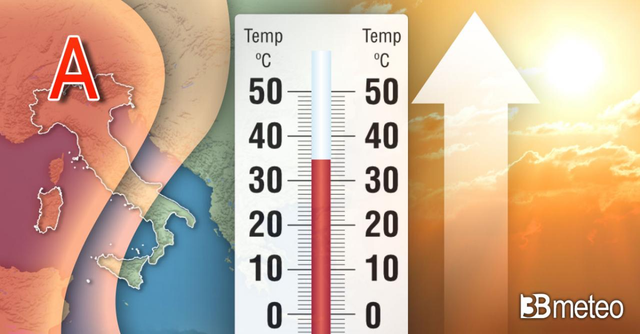 Caldo in aumento al Centro Nord, massime oltre i 30°C