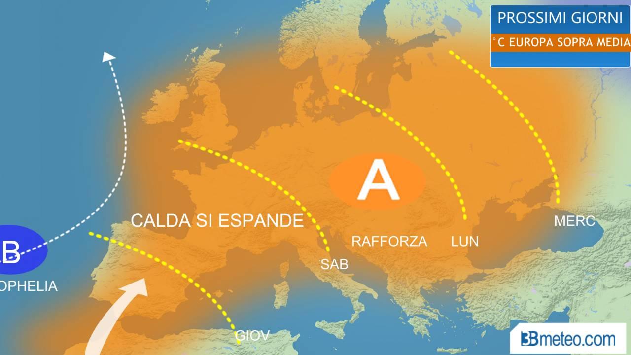 Meteo - Sarà QUASI ESTATE su mezza Europa, punte OLTRE I 30°C. Gli Stati coinvolti