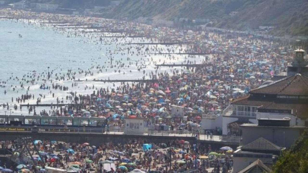 Caldo intenso in Inghilterra, fuga in massa verso le spiagge (fonte BBC)