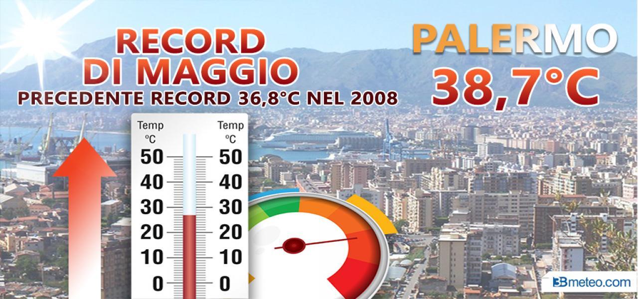 Caldo record a Palermo
