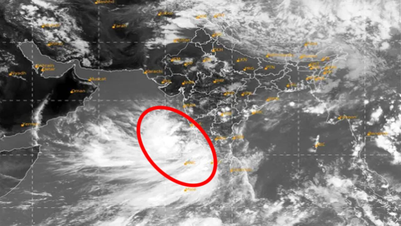 Ciclone in formazione a ovest dell'India