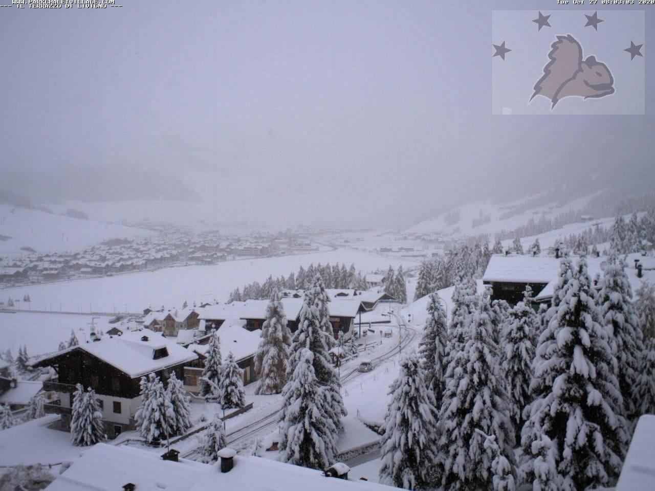 Circa 20cm di neve fresca a Livigno (SO)