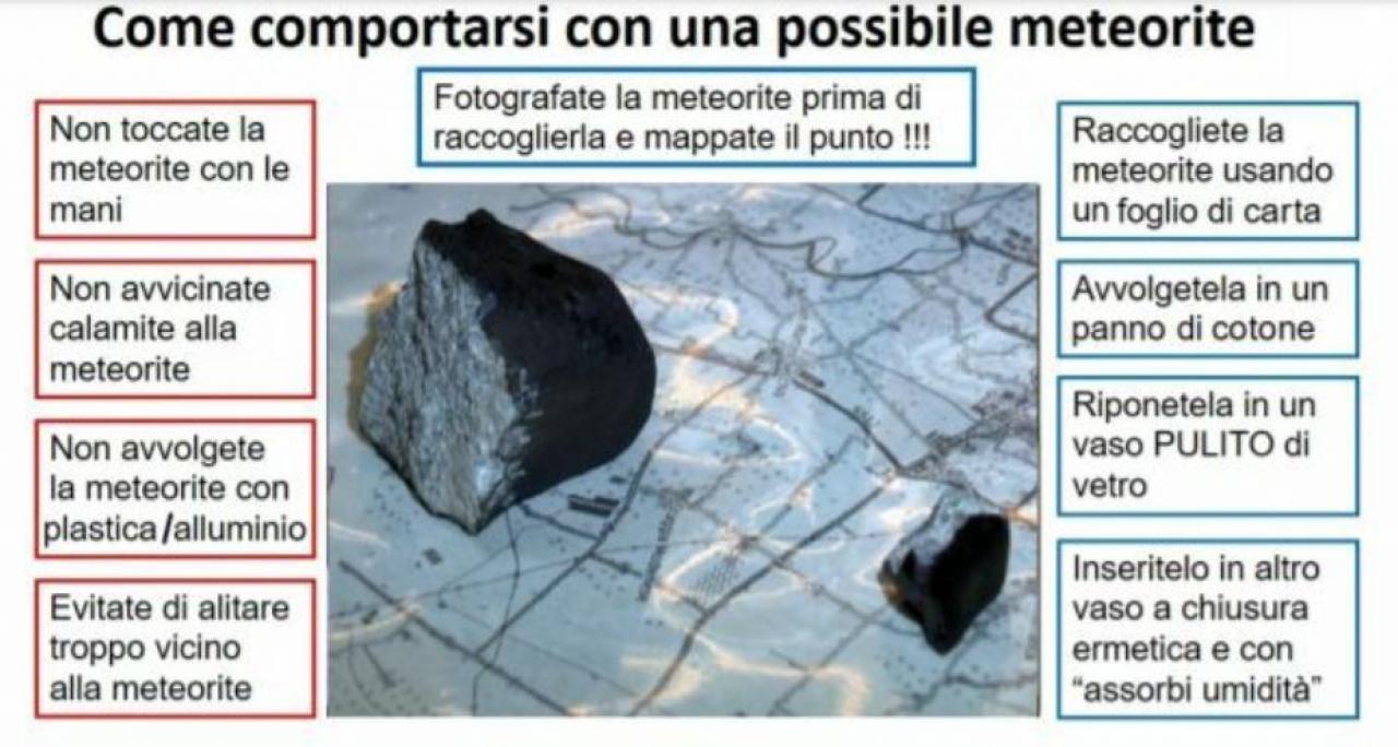 Come comportarsi quando si crede di aver trovato un meteorite