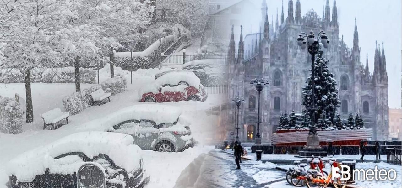 Cronaca Italia, tanta neve fino in pianura al Nord