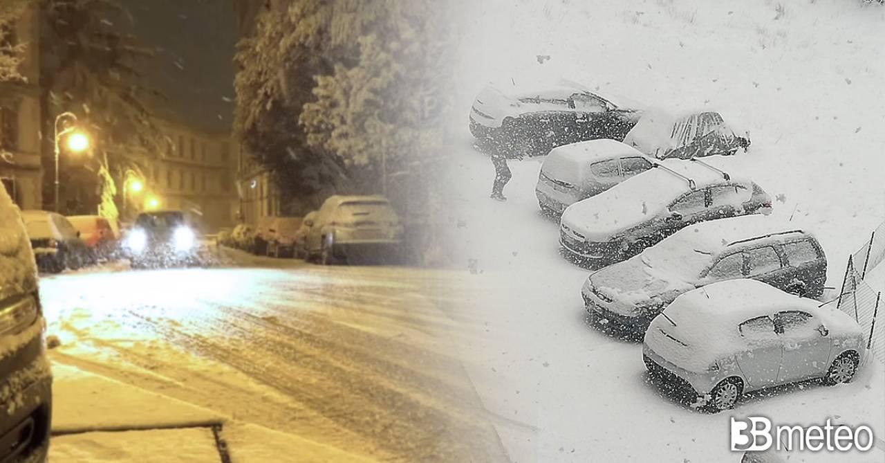 Cronaca meteo diretta: neve al Sud anche in pianura