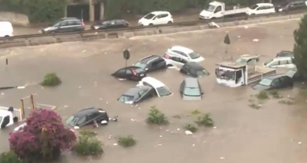 Cronaca meteo diretta: nubifragio e alluvione a Palermo