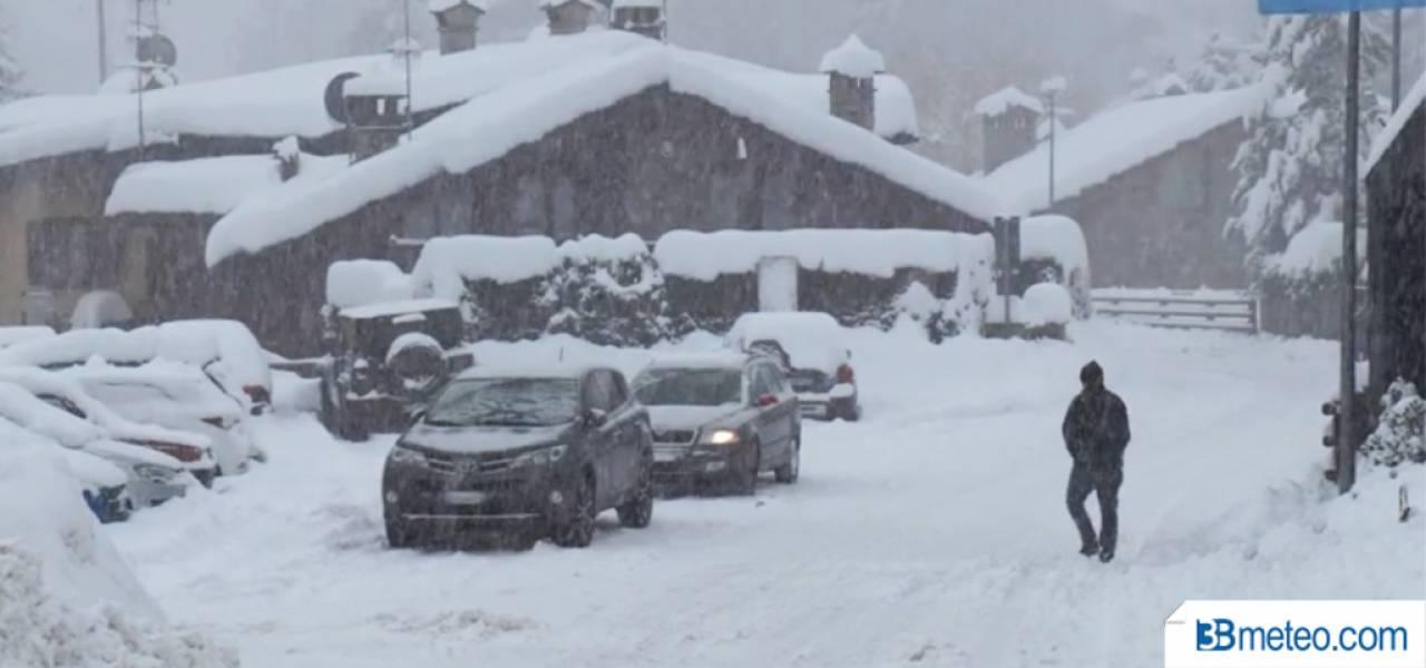 Cronaca meteo: la neve a Courmayeur