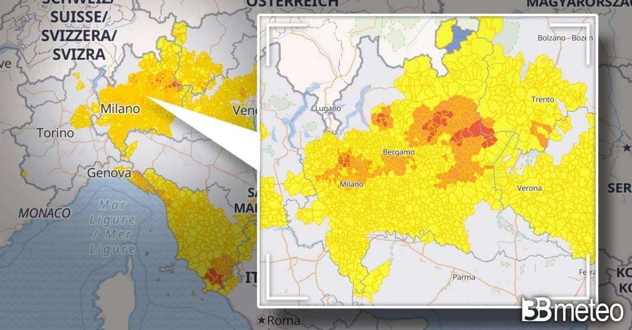 Da oggi sul sito 3bmeteo le mappe interattive di allerta