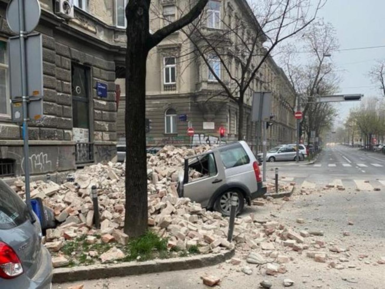 Danni e crolli a Zagabria, fonte immagine il Corriere