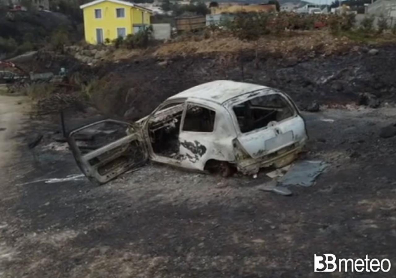 Devastazione per gli incendi a Cuglieri