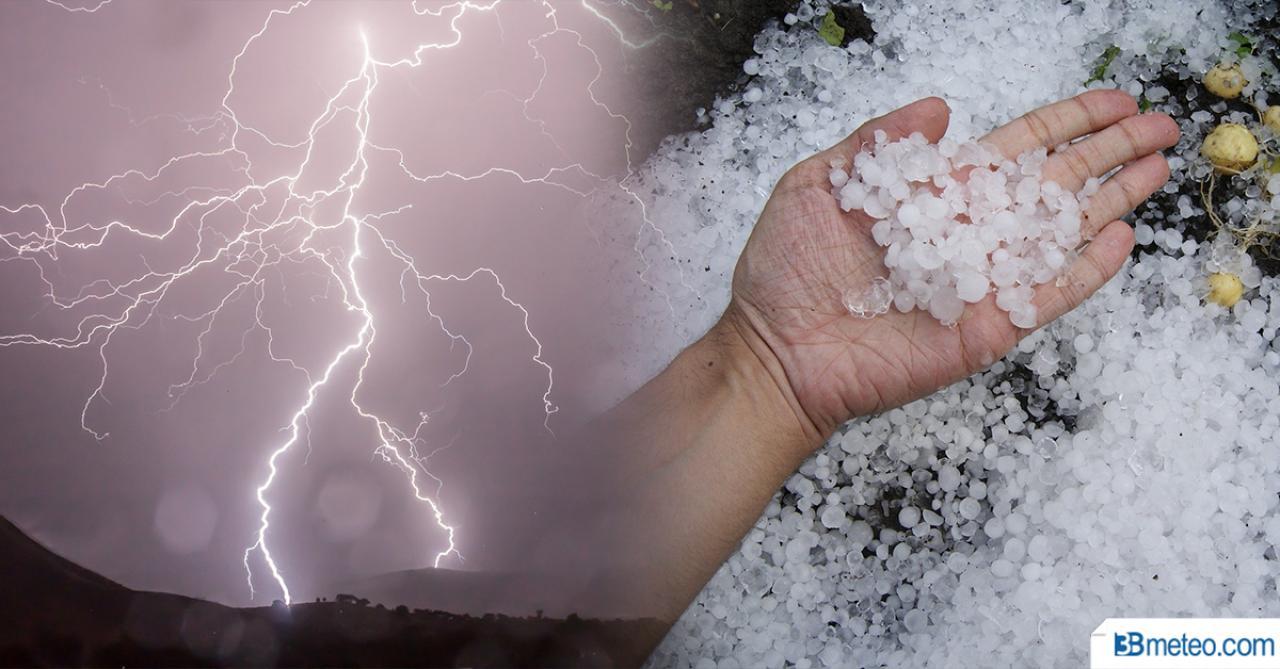 Domenica ancora maltempo con forti temporali e grandine al Centro Nord, gran caldo al Sud