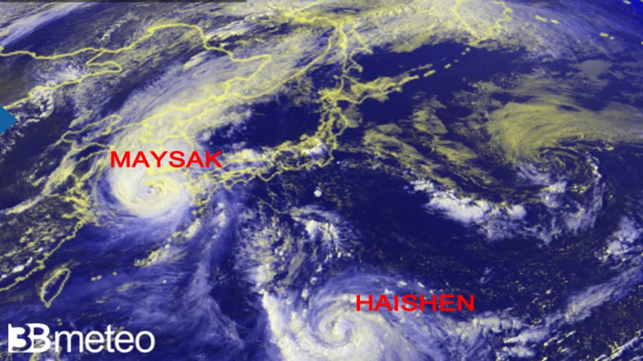 Dopo Maysak è pronto Haishen sul Pacifico occidentale