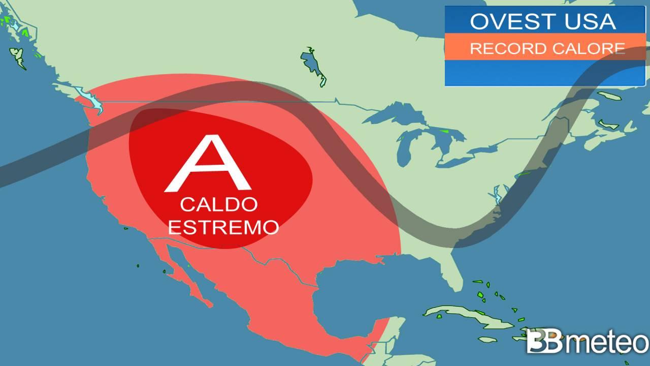 Eccezionale ondata di caldo sugli USA occidentali