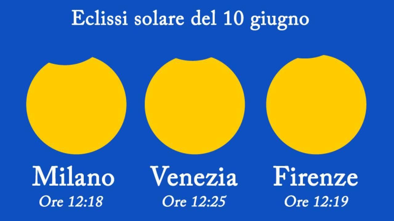 Eclissi solare del 10 giugno, visibile dall'Italia settentrionale
