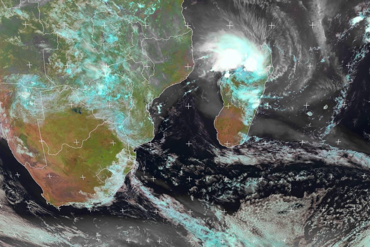 Eloise in azione sul nord del Madagascar (Fonte: EUMETSAT)