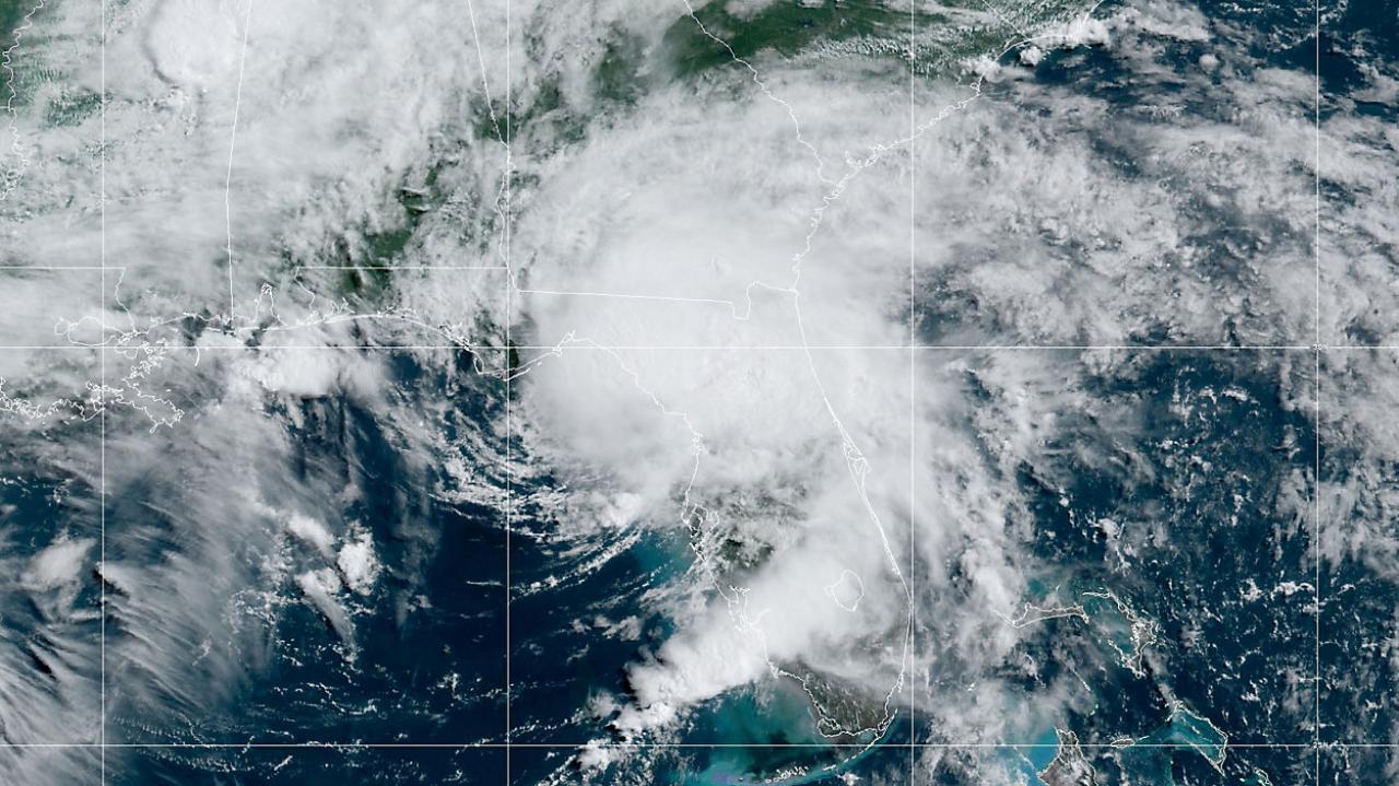 Elsa al momento del landfall in Florida