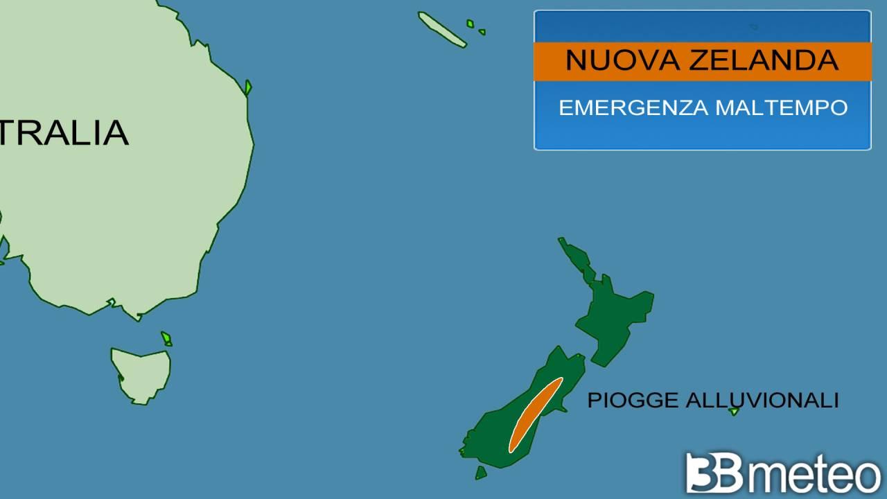 Emergenza maltempo in Nuova Zelanda