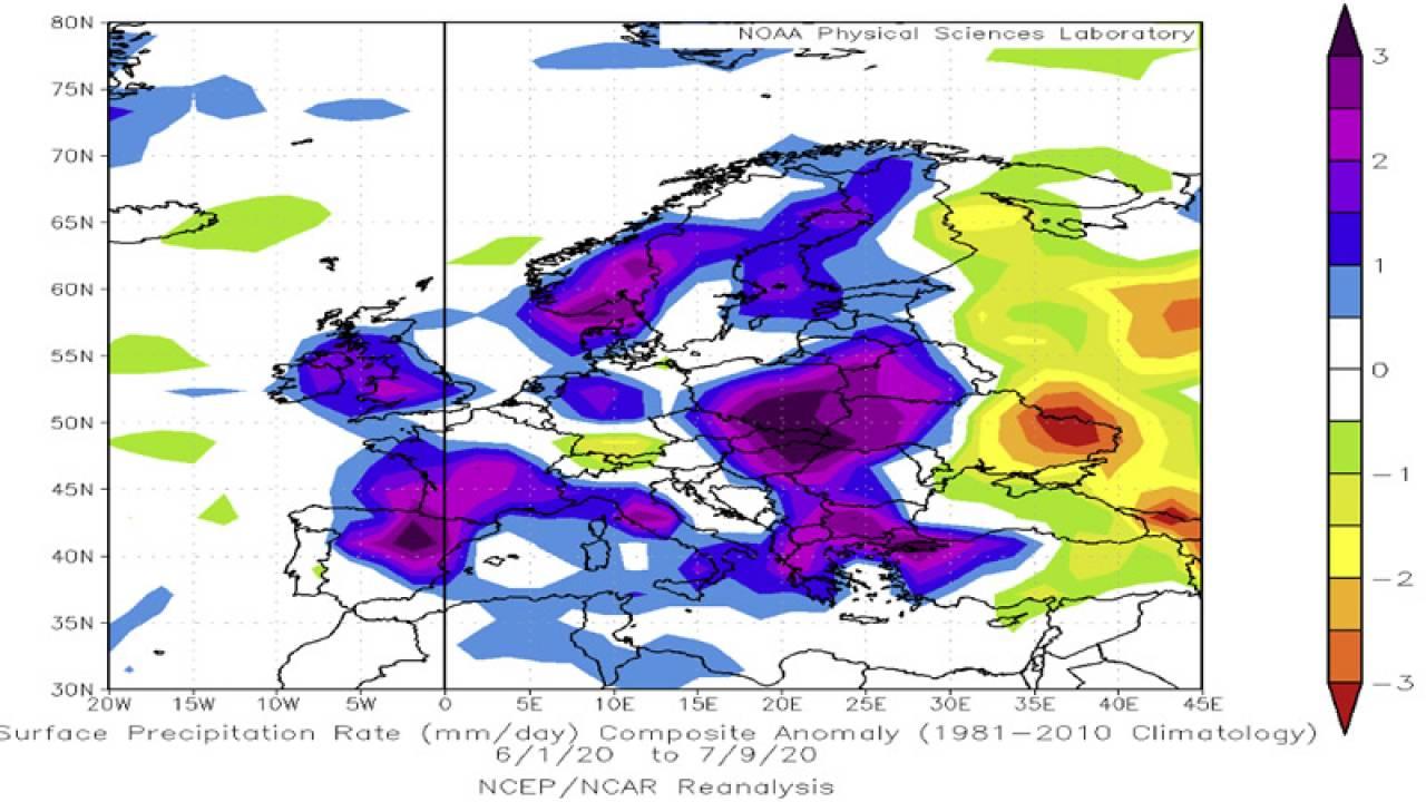 estate 2020, anomalie piogge estate 2020