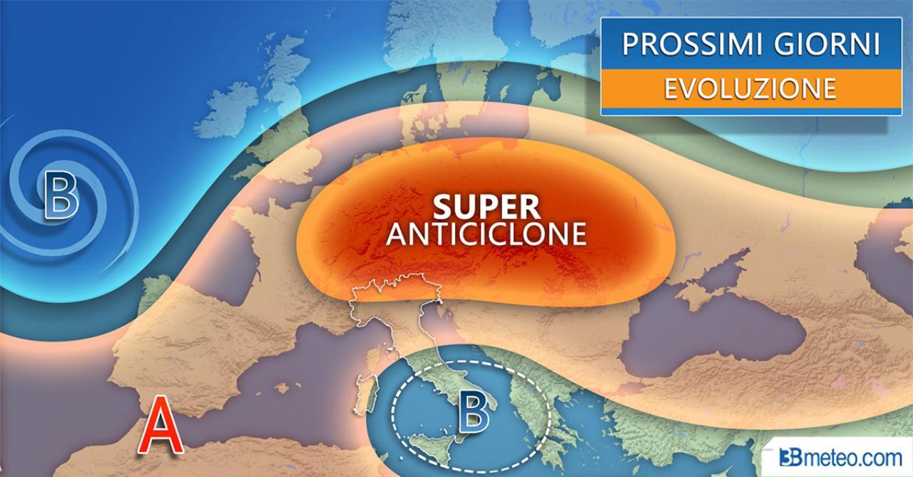Evoluzione meteo prossimi giorni
