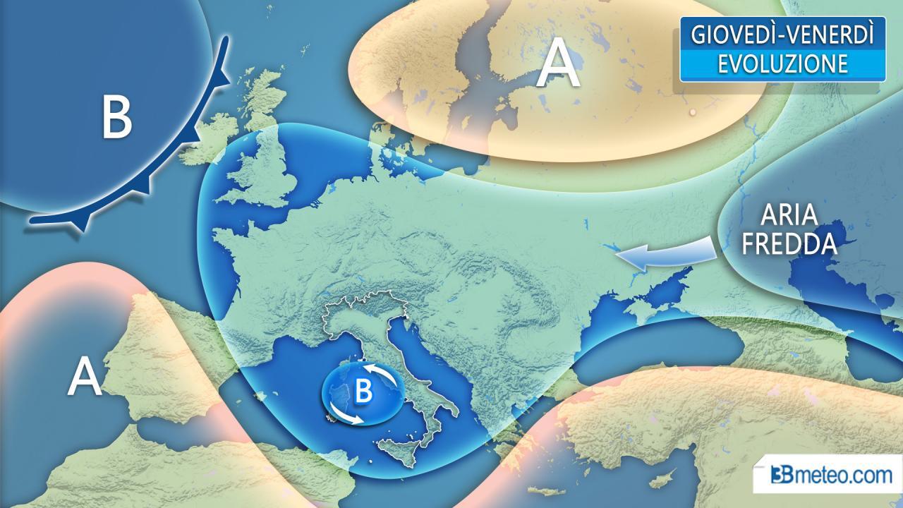 METEO ITALIA » Peggioramento in atto: fino a domani piogge, acquazzoni e temporali. Ecco dove