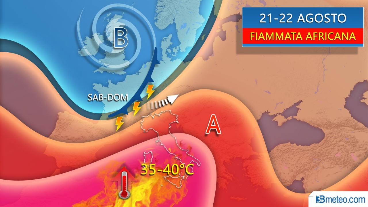 Fiammata africana in arrivo sull'Italia, entro sabato punte di 40°C