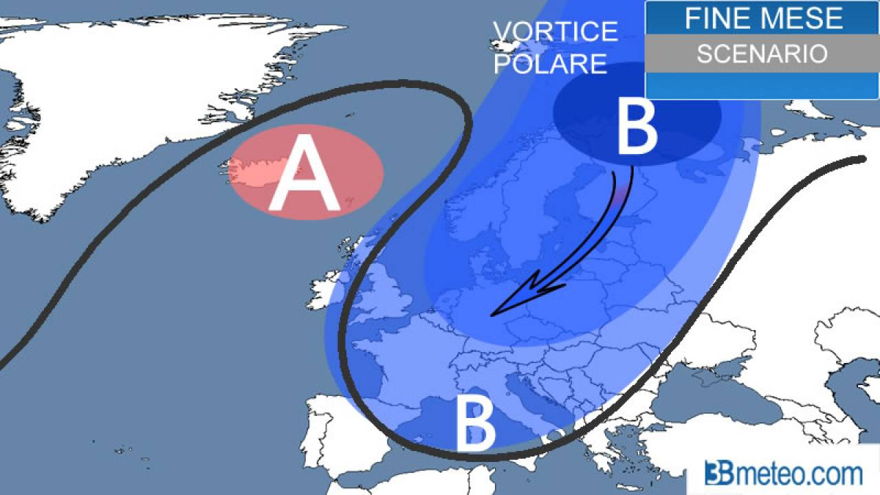 Meteo STRATWARMING - GELO ARTICO sull'Europa a fine gennaio, ARRIVA IL VORTICE POLARE.