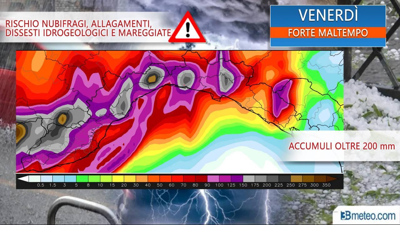 Forte peggioramento atteso sulla Liguria