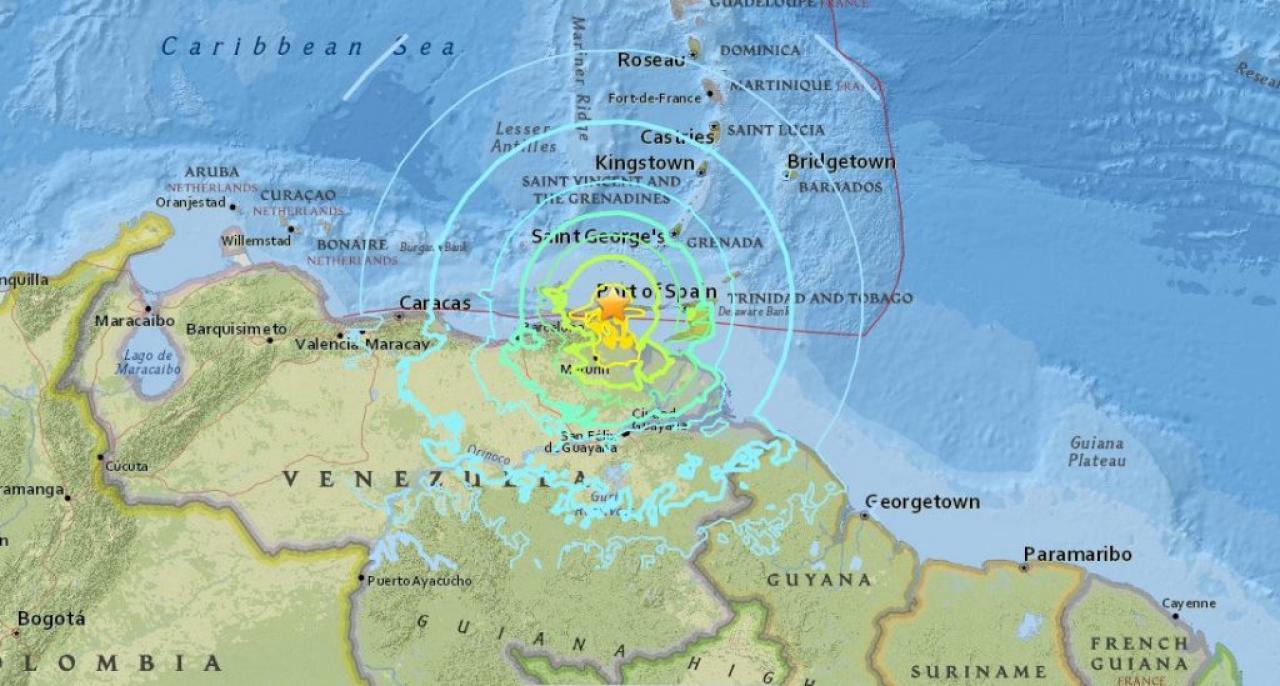 FORTE TERREMOTO IN VENEZUELA, avvertito anche in Colombia, edifici evacuati
