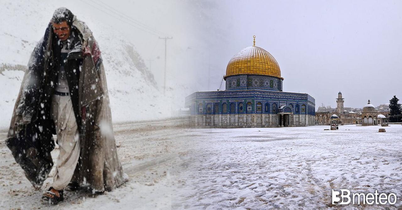 Freddo e neve anche su Medio Oriente e parte dell'Africa
