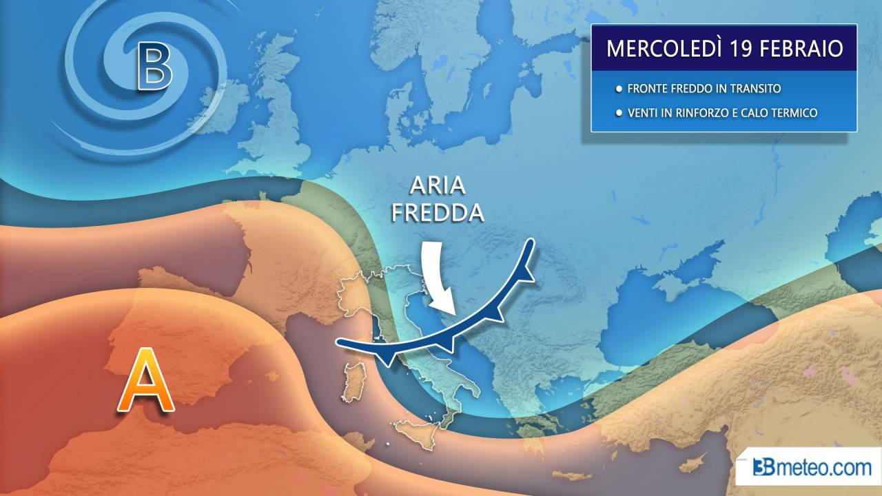 METEO - FRONTE FREDDO di metà settimana, dove colpirà e con che EFFETTI in Italia. Qui tutti i dettagli