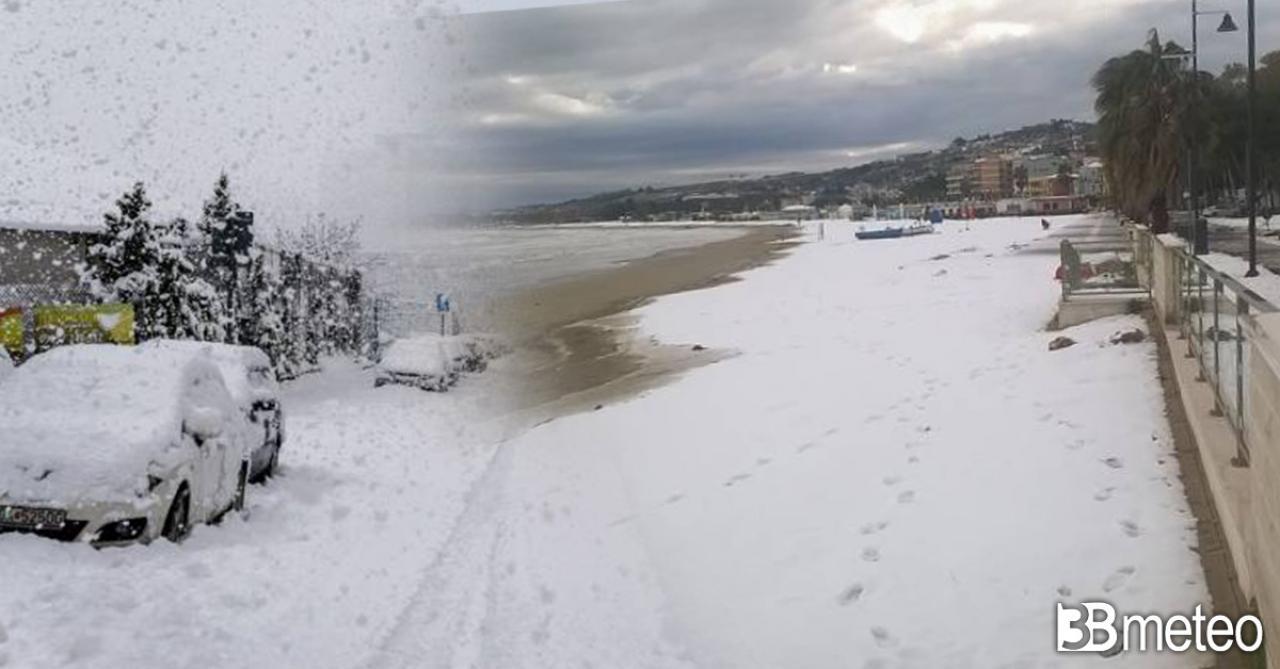 Gelo e neve imperversano al Centro Sud