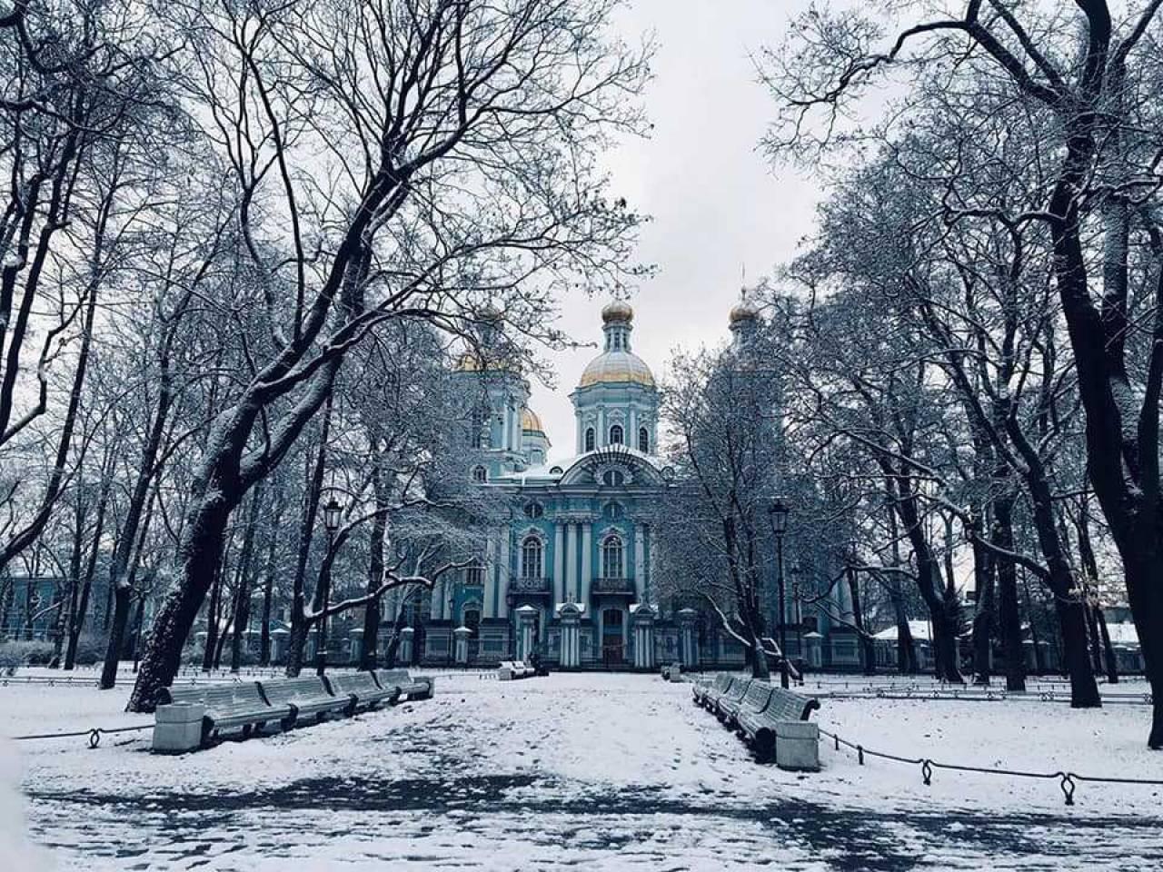 Gelo e neve sul nord Europa, qui San Pietroburgo (fonte severe weather)