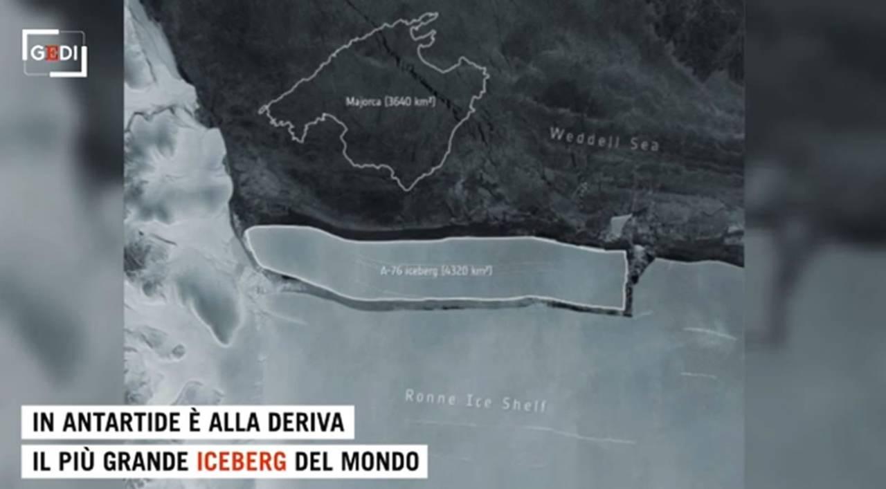 METEO: ANTARTIDE, alla deriva un ICEBERG grande come il MOLISE, il più grande del mondo. VIDEO