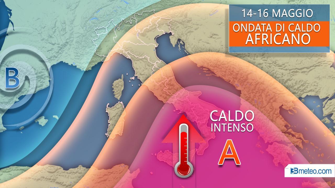 Gran caldo africano in arrivo su parte della Penisola, possibili record per il mese di maggio