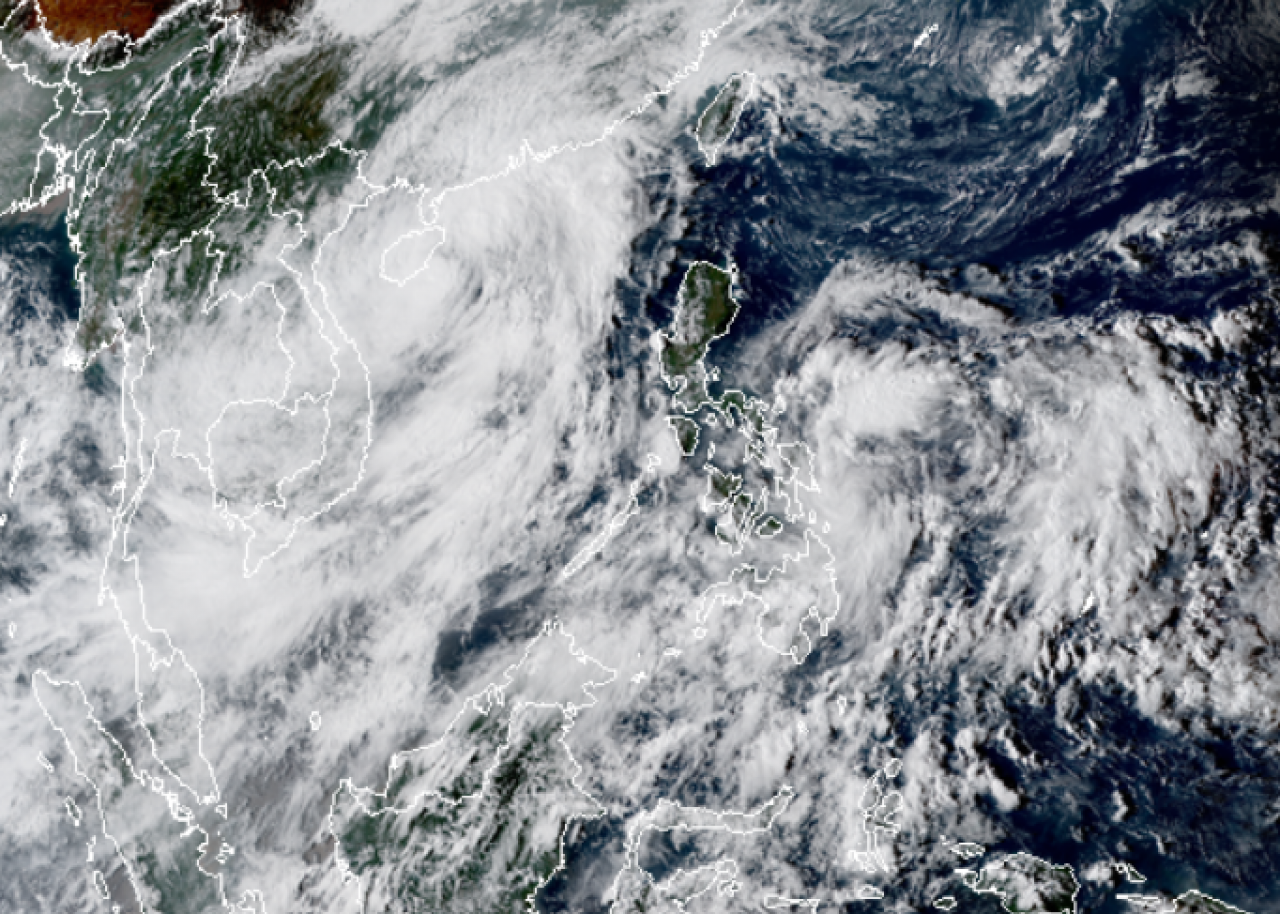 Il centro di Nankga visto dal satellite nei pressi di Taiwan