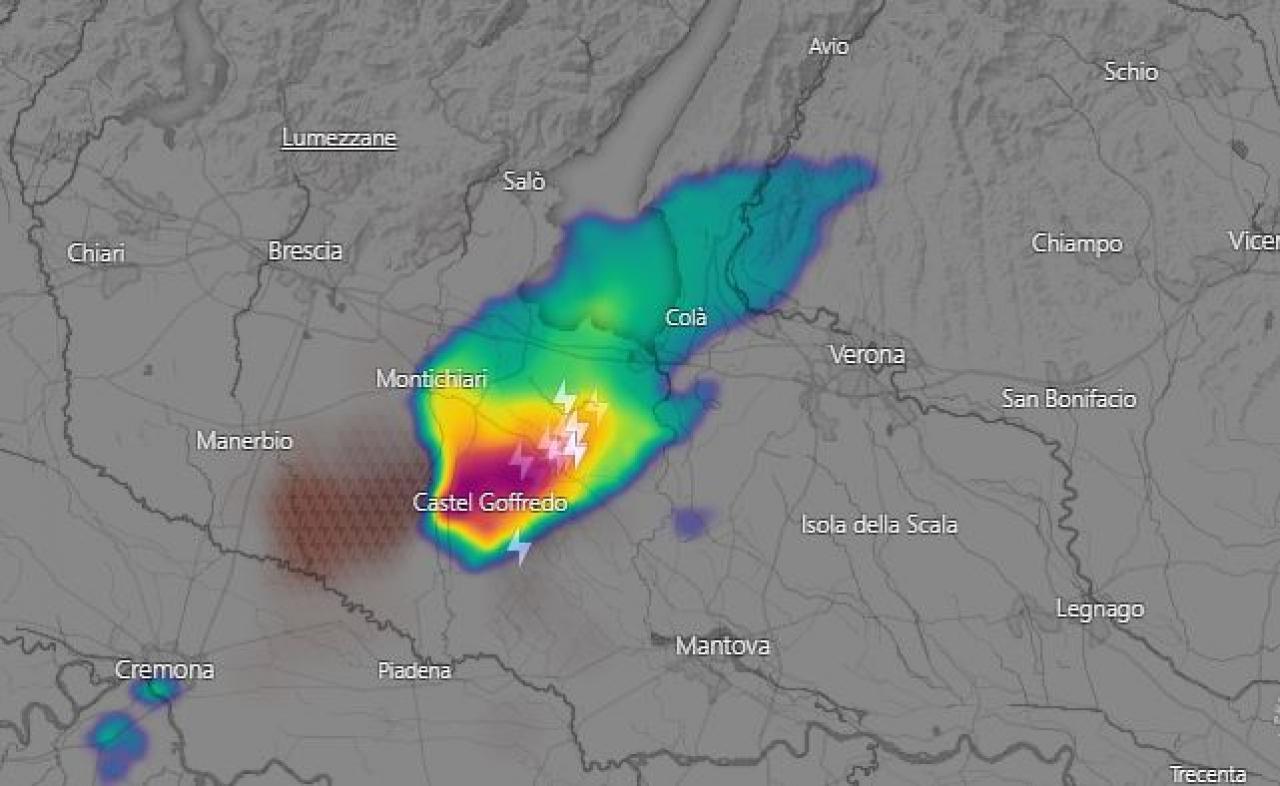 Il forte temporale del Mantovano