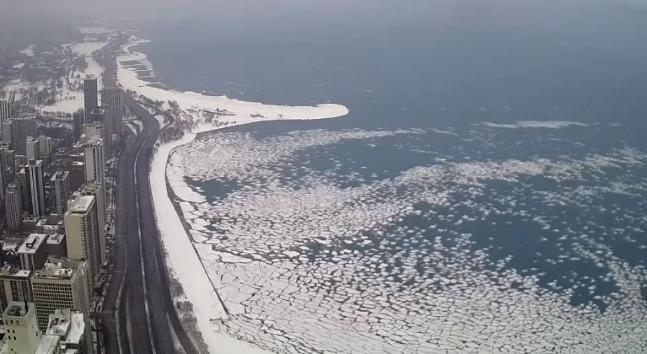 Il Lago Michigan torna sopra zero