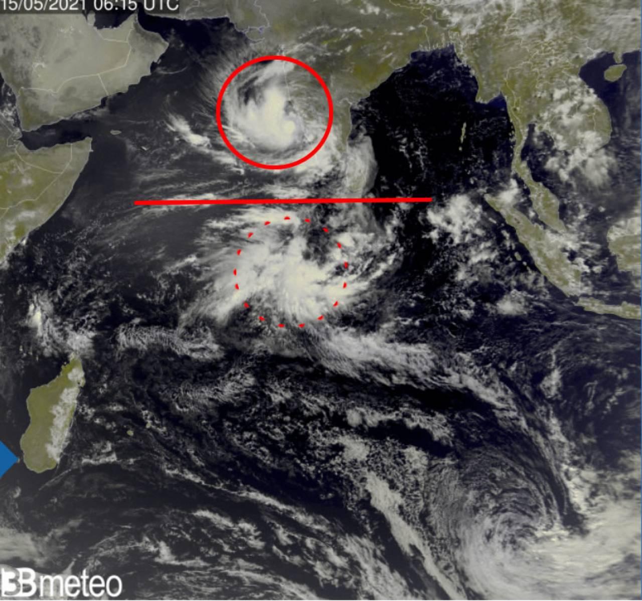 Il passaggio della mjo sull'Oceano Indiano ha dato vita a due sistemi ciclonici gemelli