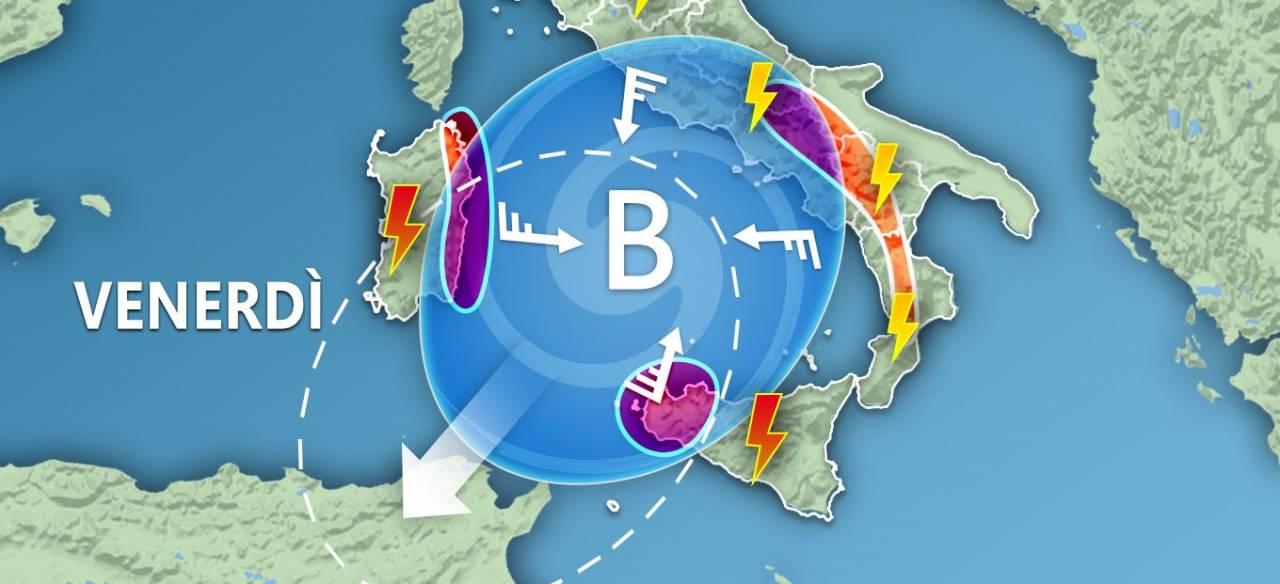 METEO SICILIA, un vortice ciclonico sta per portare FORTI TEMPORALI