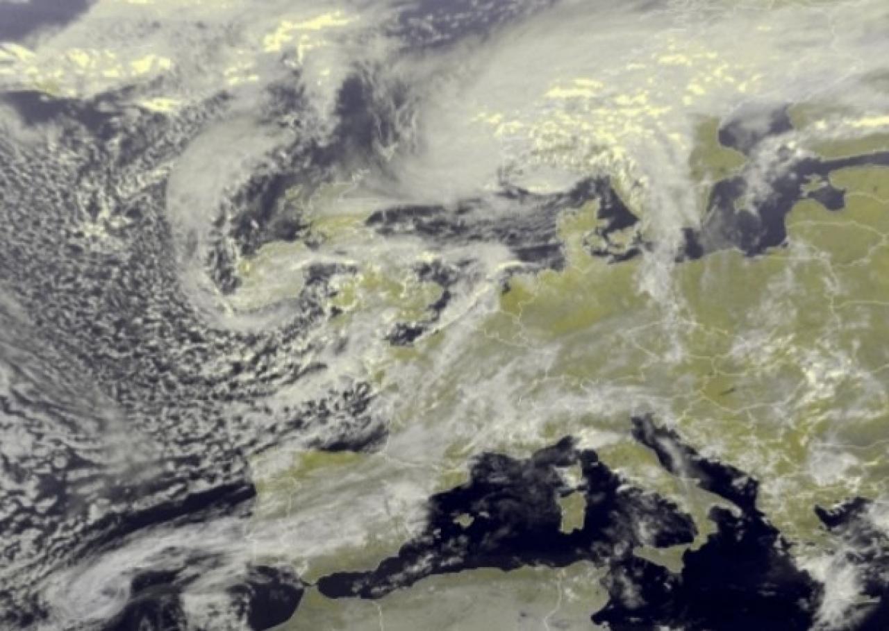 Immagine satellite Europa di giovedì pomeriggio