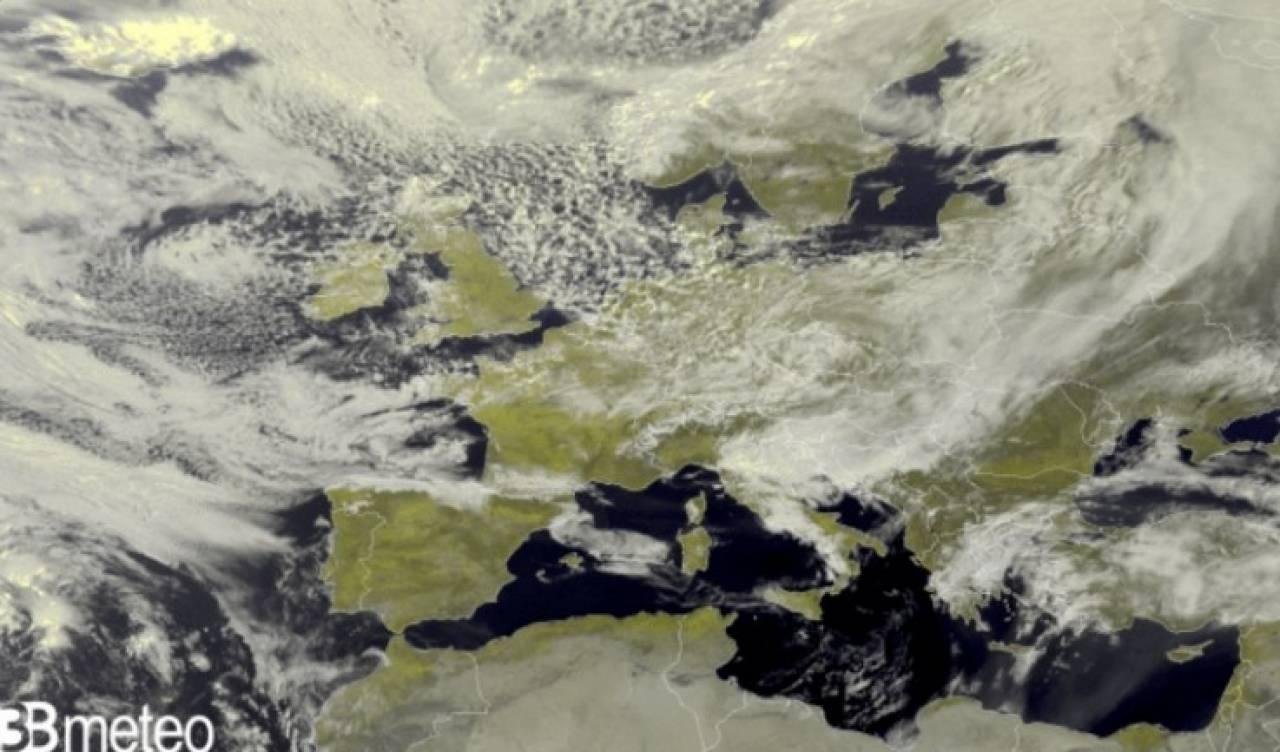 Immagine satellite Europa di martedì mattina