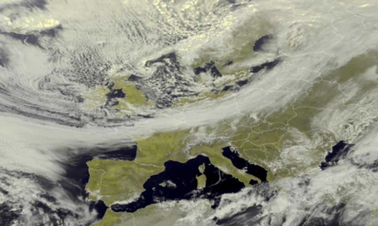 Immagine satellite Europa lunedì di Pasquetta