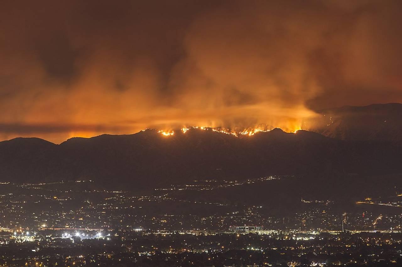 Incendi in California in un'immagine di archivio