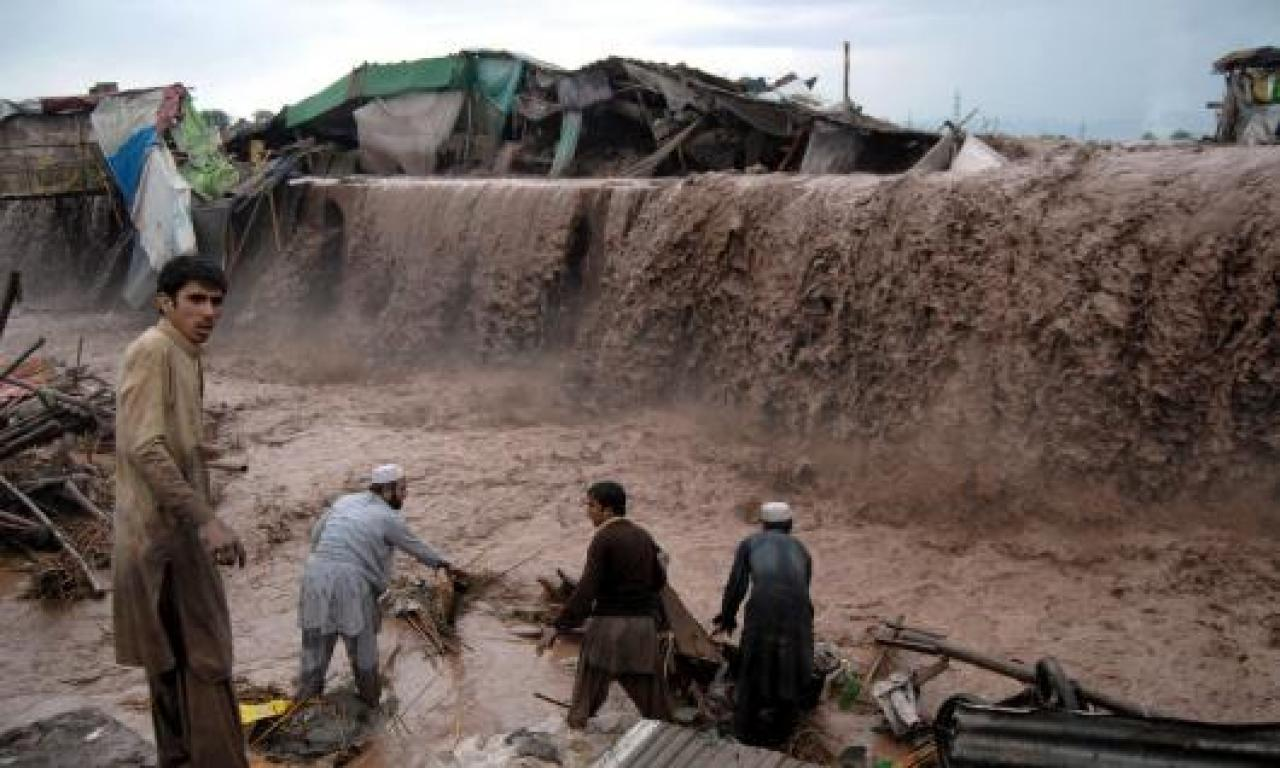 Inondazioni in Pakistan in un'immagine di archivio