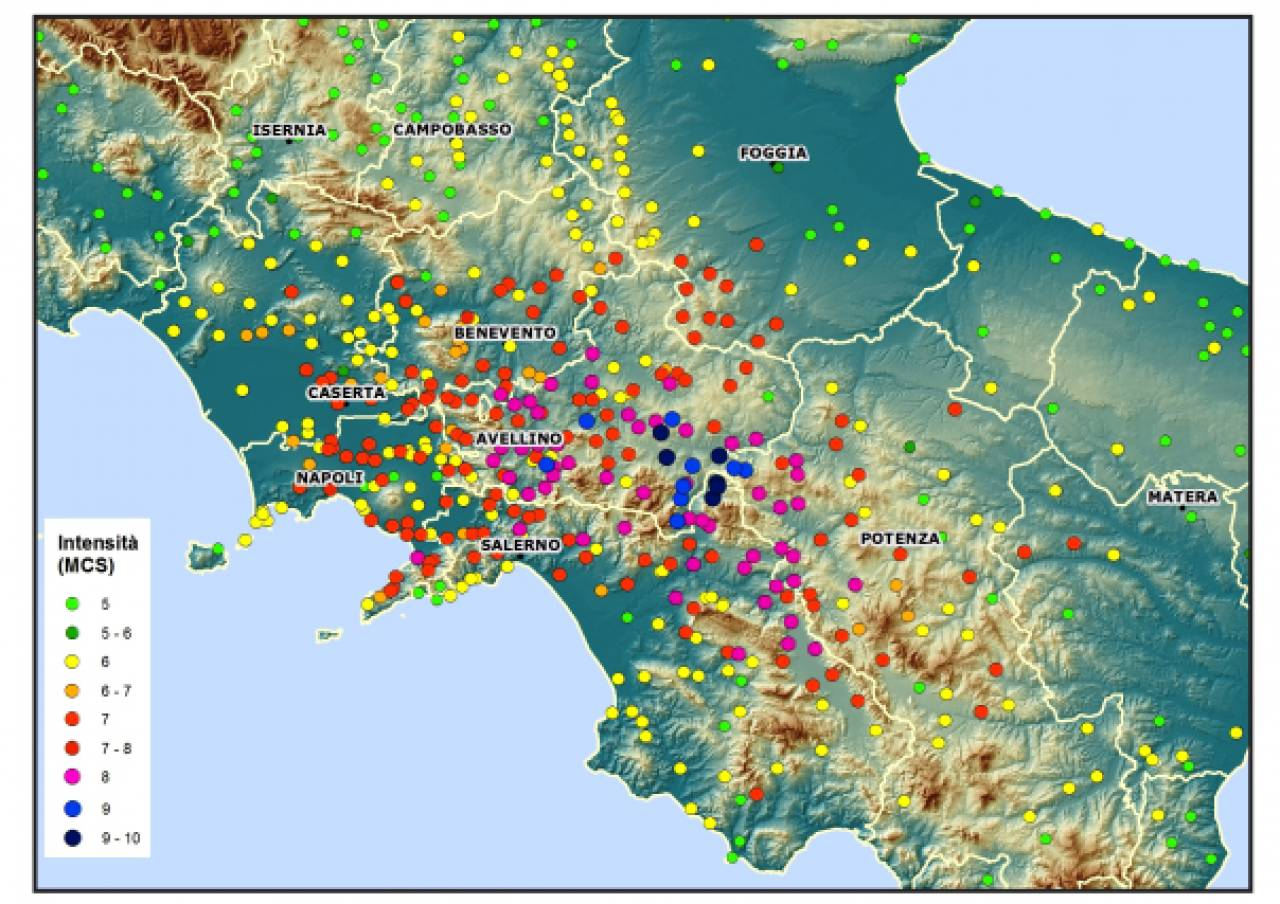 Cartina Italia Terremoti.23 Novembre 1980 40 Anni Fa Il Disastroso Terremoto Che Sconvolse L Irpinia E Il Sud 3b Meteo