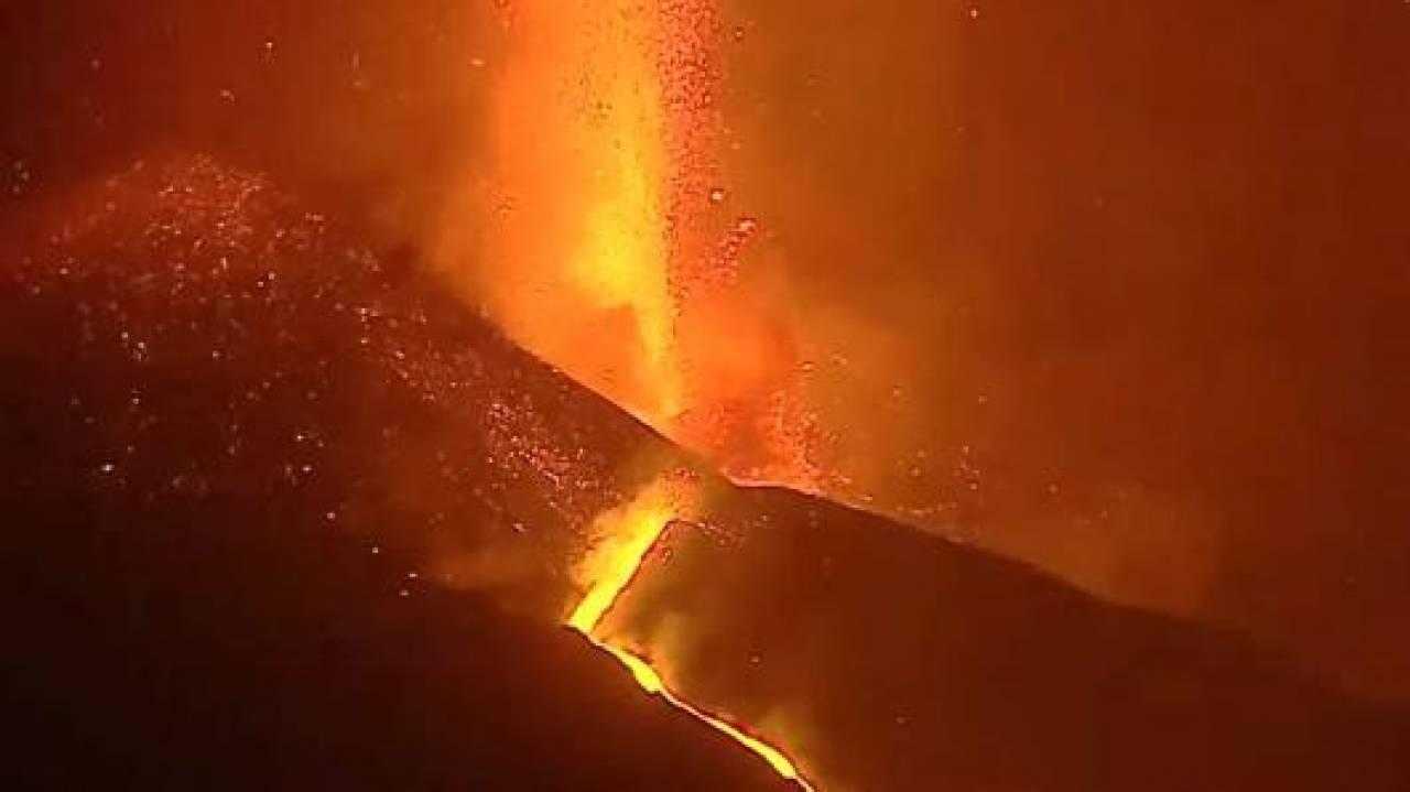 L'eruzione del Cumbre Vieja in un'immagine di archivio