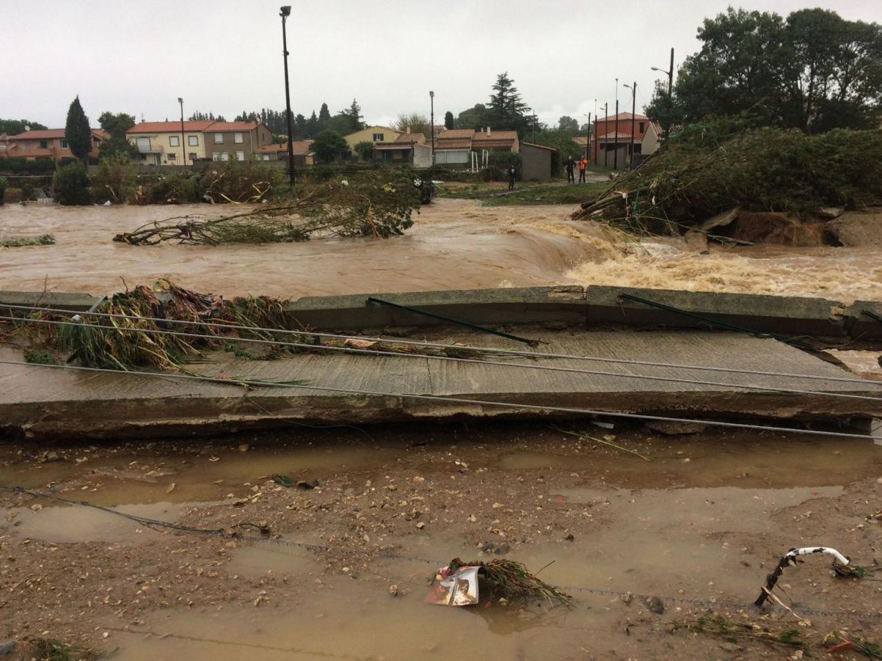 L'ex uragano Leslie devasta il Sud della Francia con FORTI piogge
