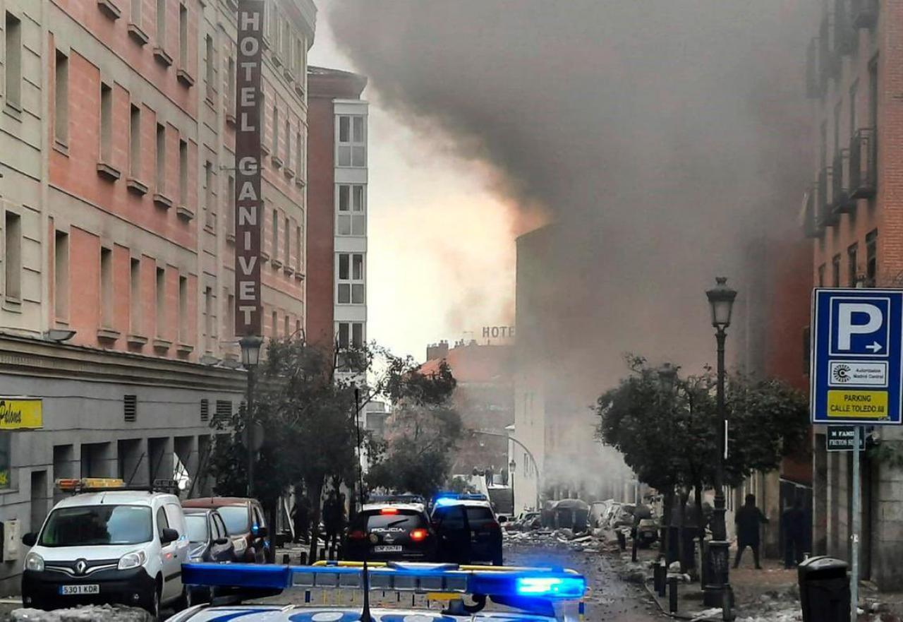 L'esplosione nel centro di Madrid