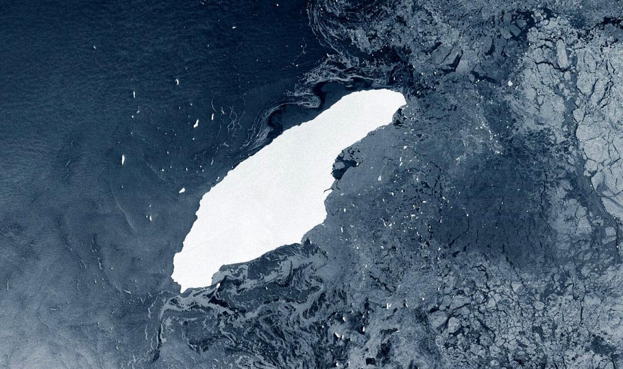 L'iceberg A68 (Fonte ESA)