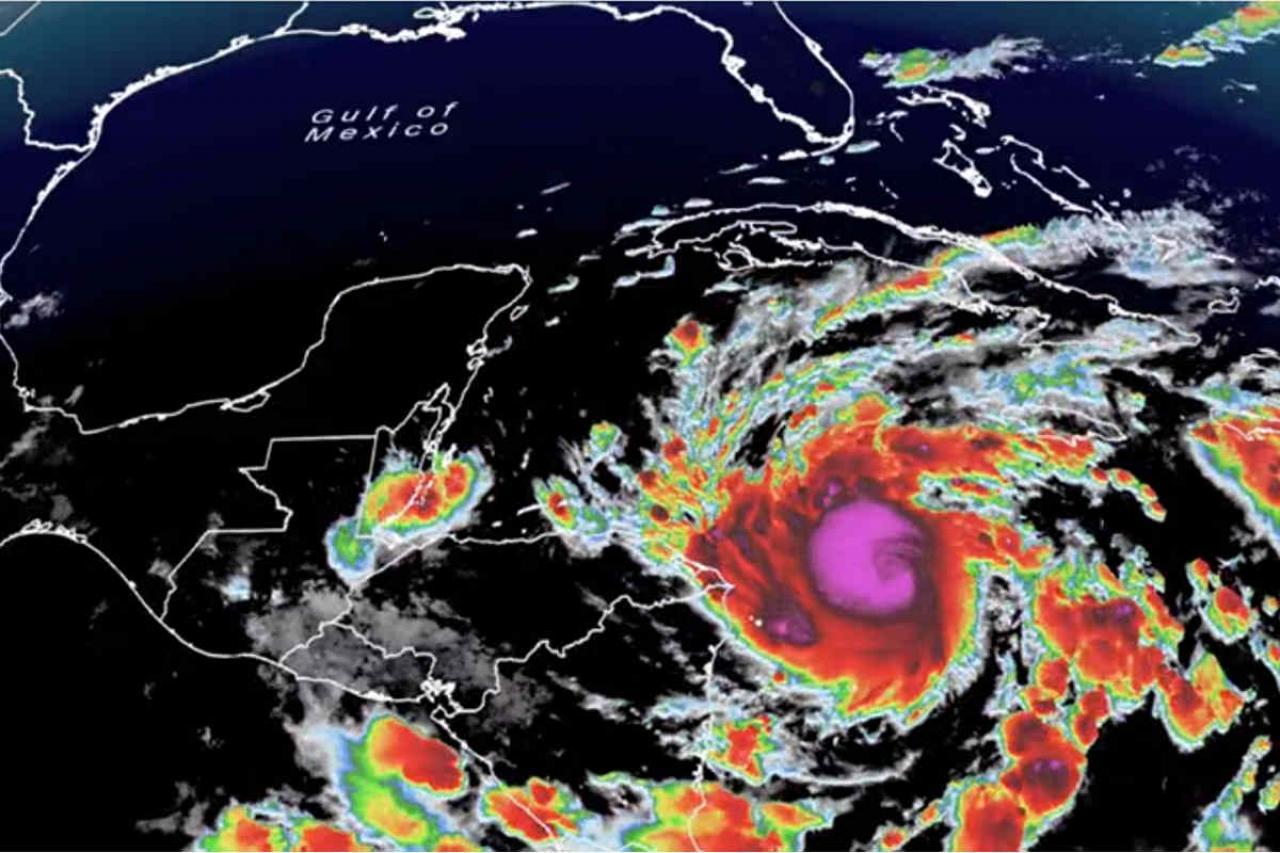 L'uragano Eta